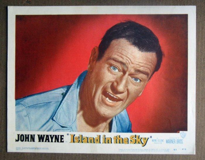 DN25 Island In the Sky JOHN WAYNE Portrait Lobby Card