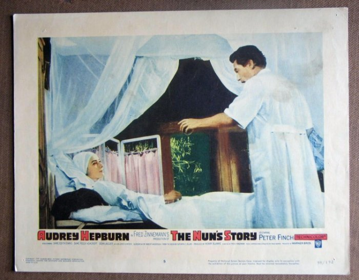 DO40 Nun's Story AUDREY HEPBURN/PETER FINCH Lobby Card
