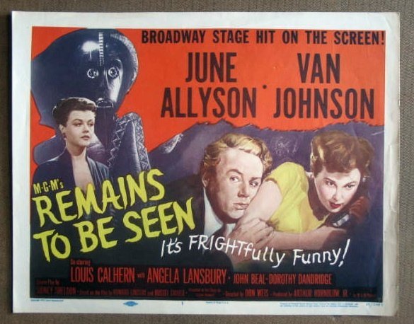 DS35 REMAINS TO BE SEEN Allyson/Lansbury GREAT '53 Title Card