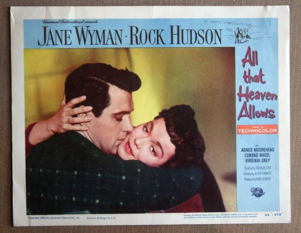 DT01 All Heaven Allows ROCK HUDSON Portrait Lobby Card
