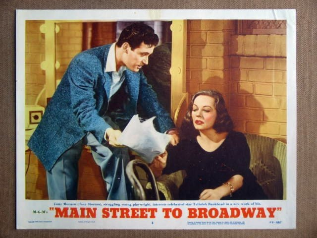 DV23 Main St To Broadway TALLULAH BANKHEAD Lobby Card