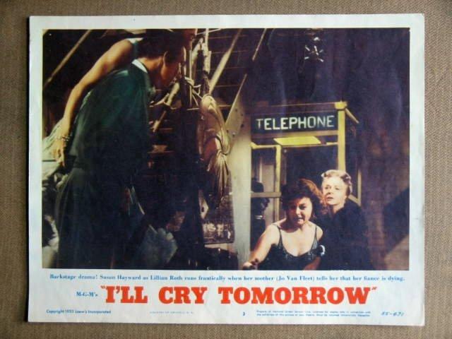 DZ17 I'll Cry Tomorrow SUSAN HAYWARD 1955 Lobby Card