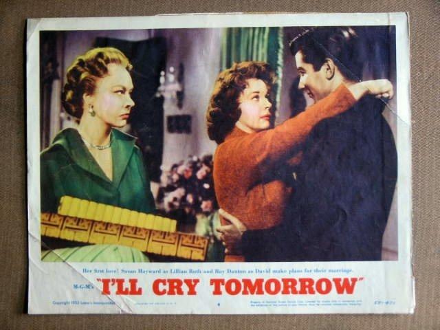DZ18 I'll Cry Tomorrow SUSAN HAYWARD 1955 Lobby Card