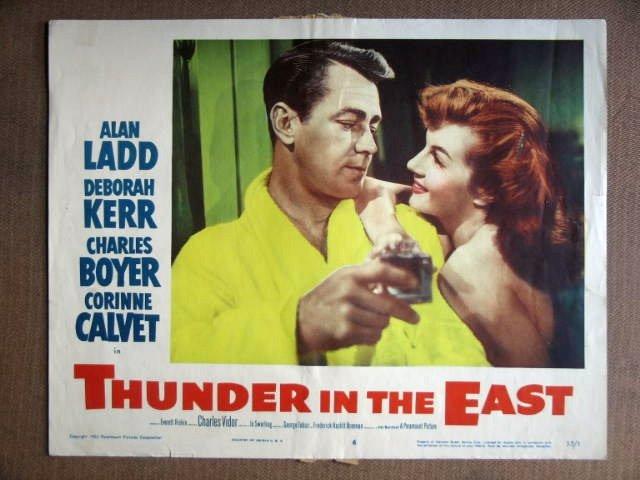 DZ46 Thunder In East ALAN LADD 1953 Portrait Lobby Card
