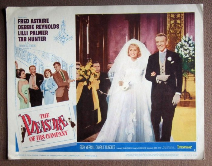 DL36 Pleasure Of His Company FRED ASTAIRE Lobby Card