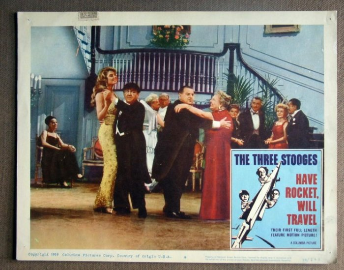 DM21 Have Rocket Will Travel THREE STOOGES Lobby Card
