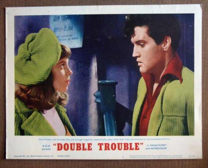 DQ13 Double Trouble ELVIS PRESLEY Portrait Lobby Card