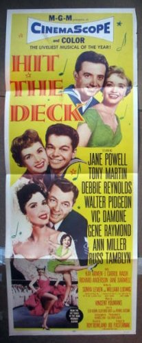 DS19 Hit The Deck ANN MILLER/D REYNOLDS Insert Poster