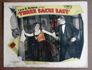 DD42 Cecil B DeMille's THREE FACES EAST 1926 orig LC