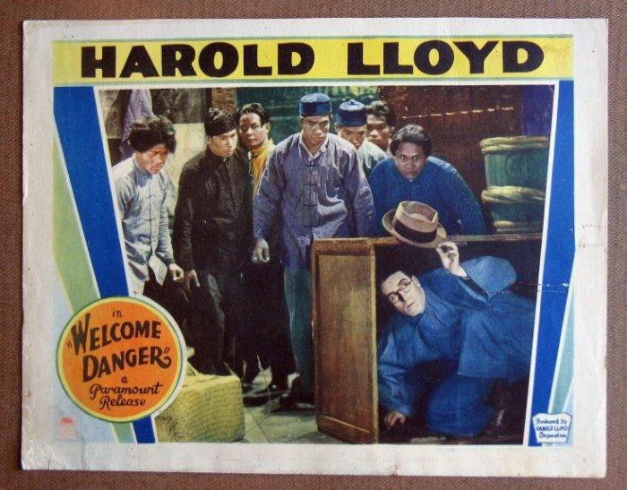 DF53 WELCOME DANGER Harold Lloyd GREAT orig '29 LC