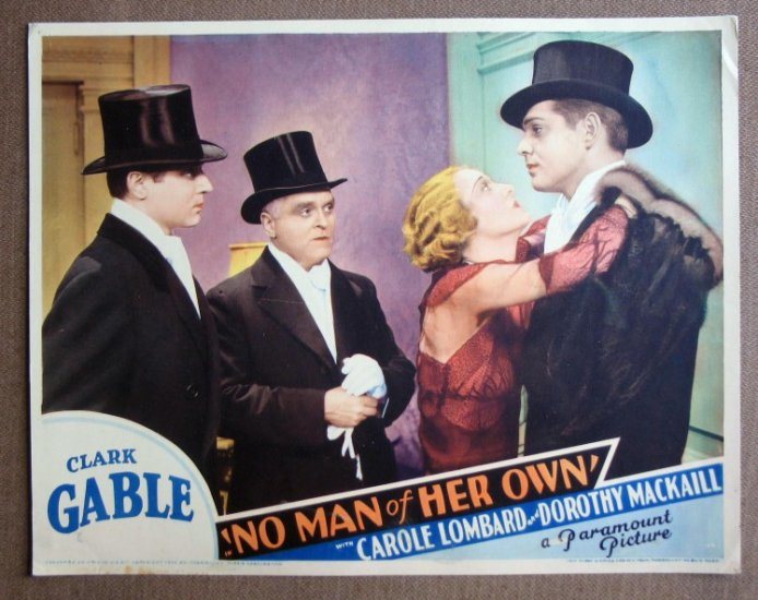CT33 No Man Of Her Own CLARK GABLE Orig 1932 Lobby Card