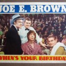 CT45 When's Your Birthday JOE E BROWN 1937 Lobby Card