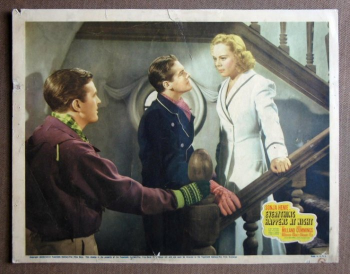 CV53 Everything Happens SONJA HENIE 1939 Lobby Card