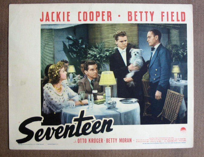 CW33 Seventeen JACKIE COOPER/BETTY FIELD Lobby Card