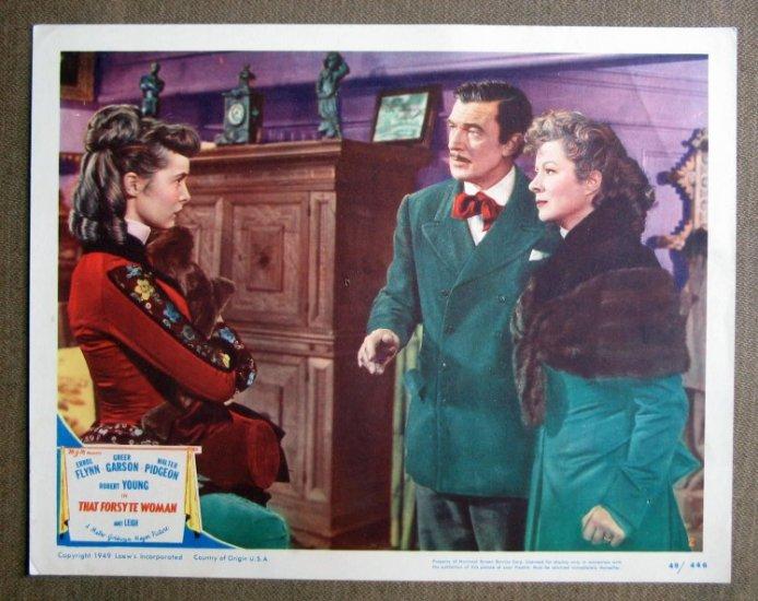 CT41 Forsyte Woman GREER GARSON/JANET LEIGH orig '48 LC