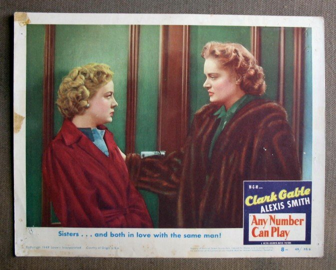 CU03 Any Number Can Play ALEXIS SMITH Org 49 Lobby Card