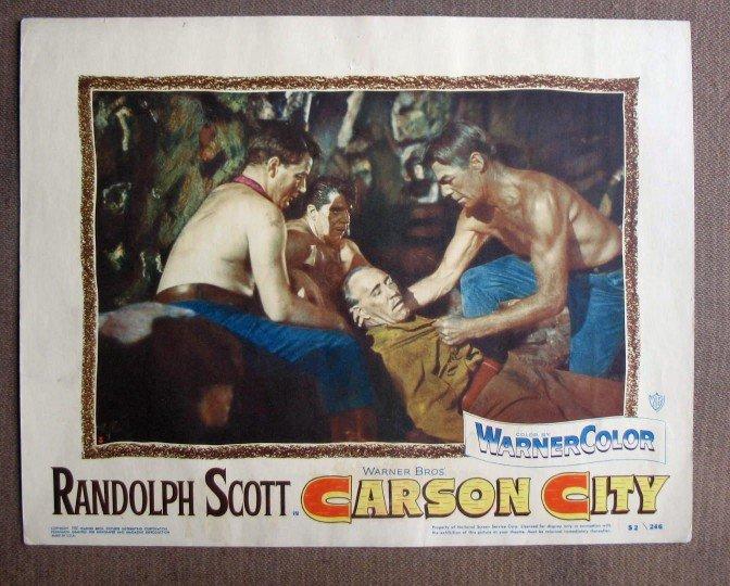 CU07 Carson City RANDOLPH SCOTT (beef cake) Lobby Card