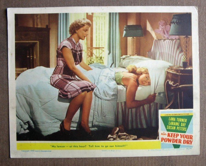 CU27 Keep Your Powder Dry LANA TURNER 1945 Lobby Card