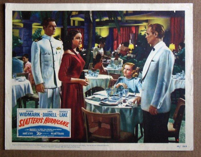 CV36 Slattery's Hurricane LINDA DARNELL 1949 Lobby Card