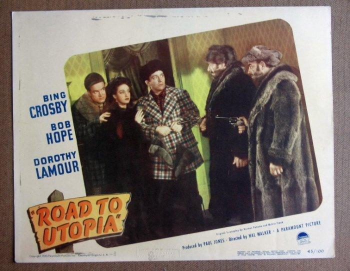 CZ36 Road To Utopia BOB HOPE/BING CROSBY Lobby Card