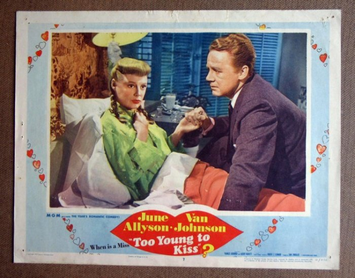 DA50 Too Young To Kiss JUNE ALLYSON/JOHNSON Lobby Card