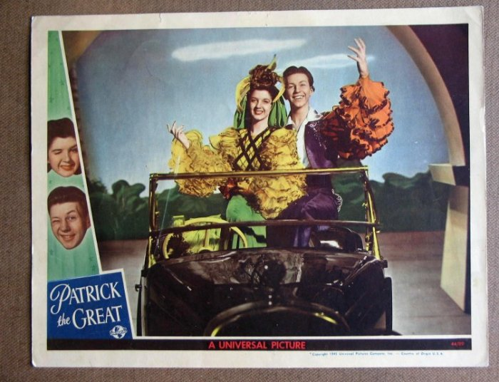 DD31 Patrick The Great DONALD O'CONNOR 1944 Lobby Card