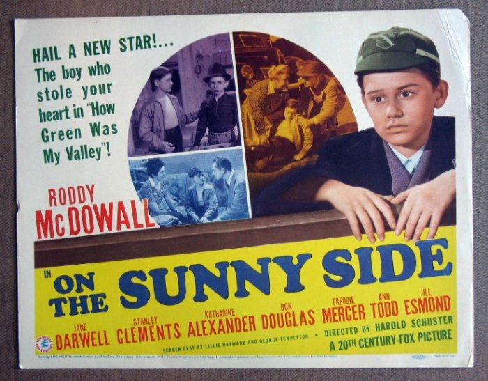 DF42 On The Sunny Side RODDY McDOWALL Title Lobby Card
