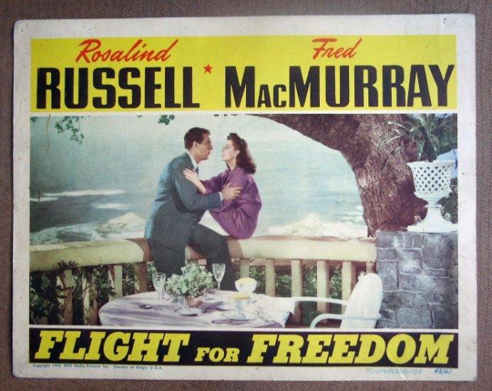 DG11 Flight For Freedom ROSALIND RUSSELL '43 Lobby Card