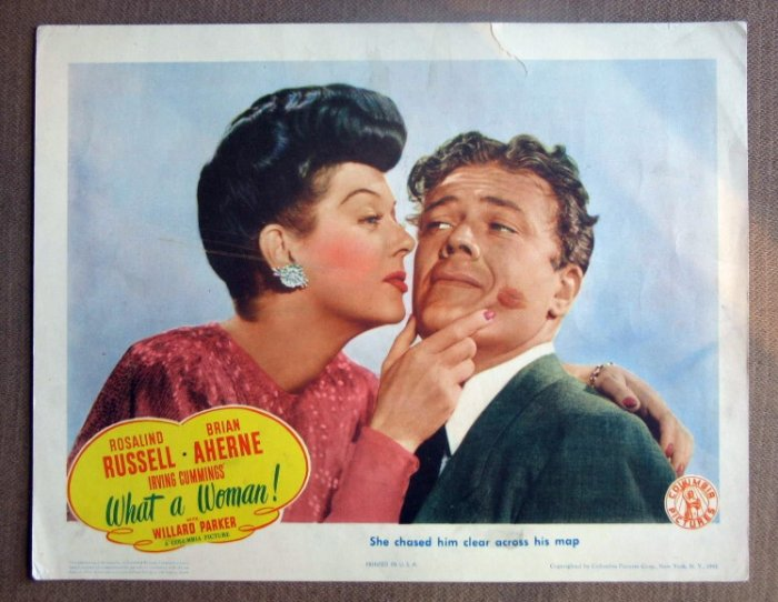 DI45 What A Woman ROSALIND RUSSELL 1943 Lobby Card