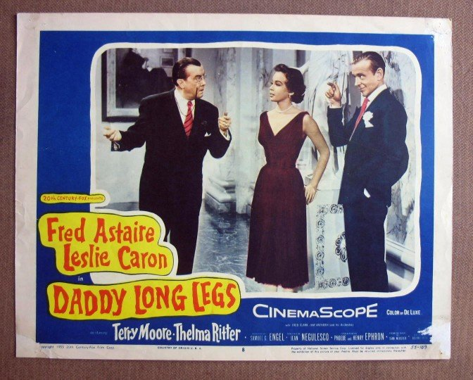 CU09 Daddy Long Legs FRED ASTAIRE/L CARON Lobby Card