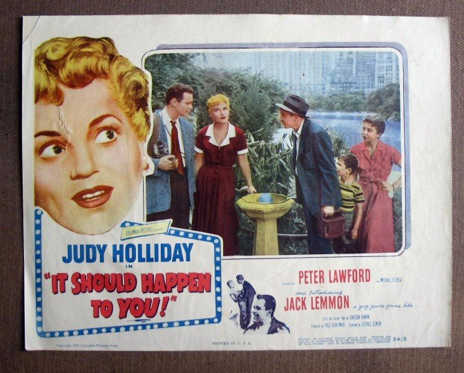 CU24 It Should Happen To You JUDY HOLLIDAY Lobby Card