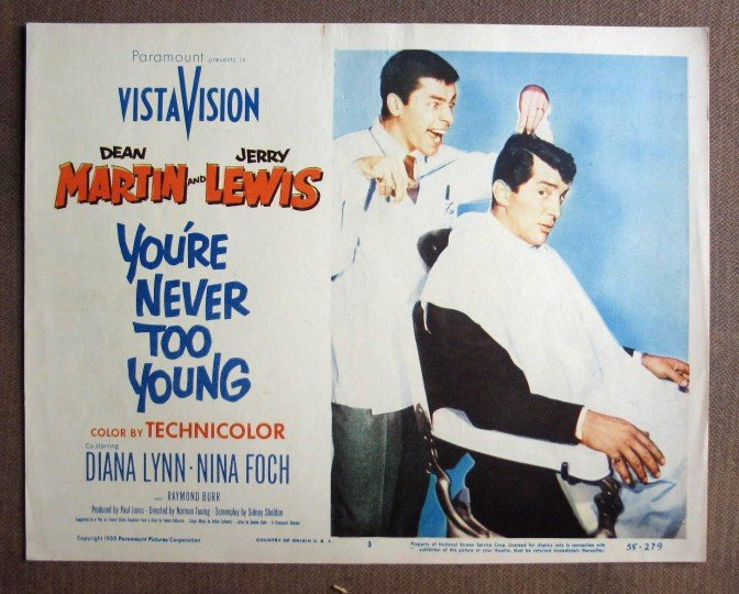 CU46 You're Never Too Young D MARTIN/J LEWIS Lobby Card