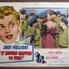 CV23 It Should Happen To You JUDY HOLLIDAY Lobby Card