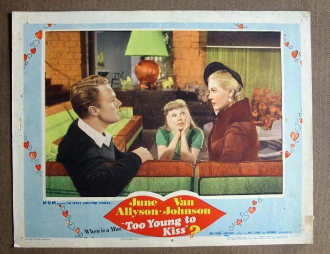 CW43 Too Young To Kiss JUNE ALLYSON/JOHNSON Lobby Card