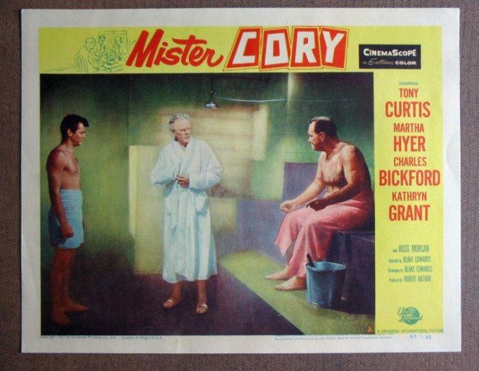 CZ26 Mister Cory TONY CURTIS '57 mint lobby card