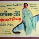 DA23 HARRIET CRAIG Joan Crawford TERRIFIC orig '50 TC