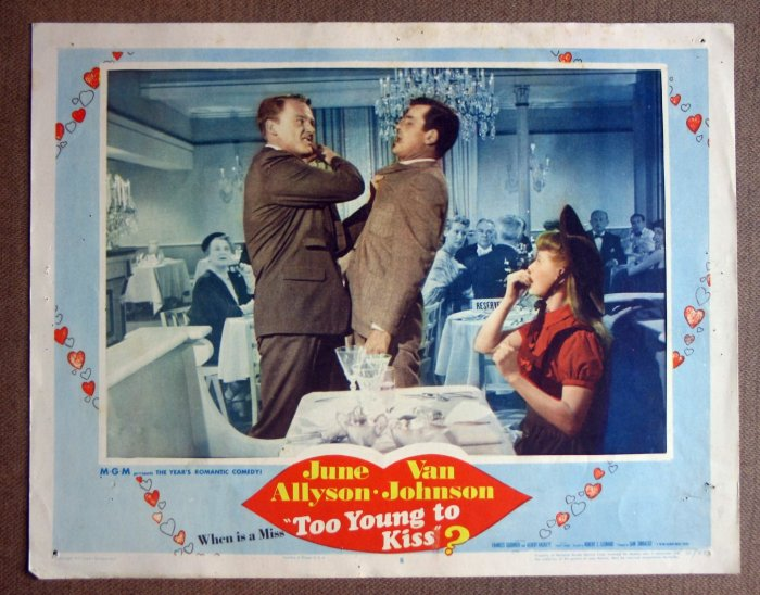 DC49 Too Young To Kiss JUNE ALLYSON/ JOHNSON Lobby Card