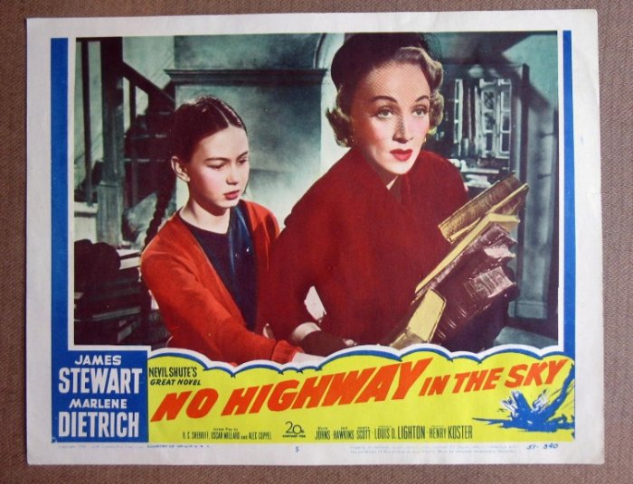 DD28 No Highway To Heaven MARLENE DIETRICH mint '51 LC