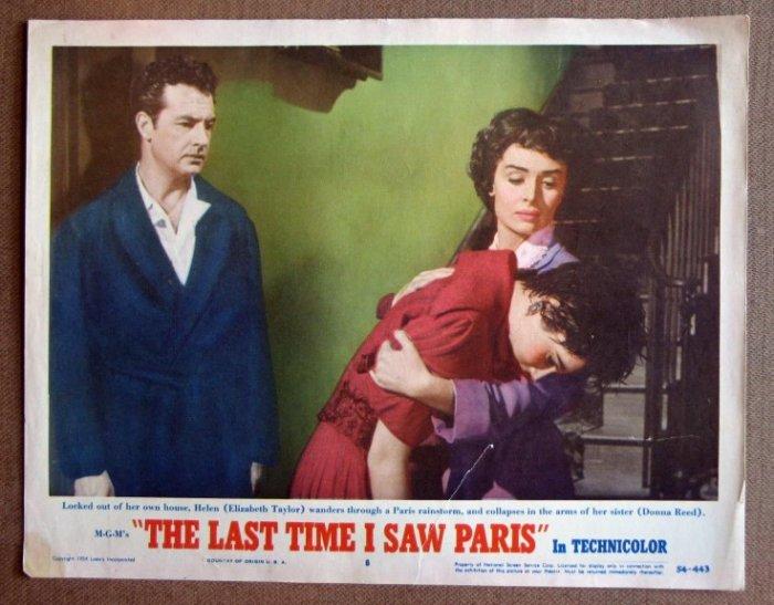DF30 Last Time I Saw Paris ELIZABETH TAYLOR Lobby Card
