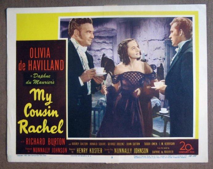 DG24 Cousin Rachel OLIVIA DeHAVILLAND/BURTON org '52 LC