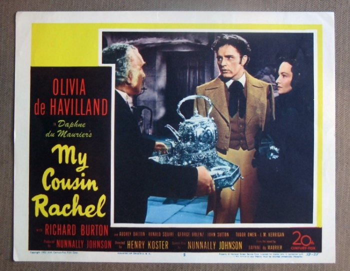 DI21 MY COUSIN RACHEL  Burton/DeHavilland MINT '53 LC