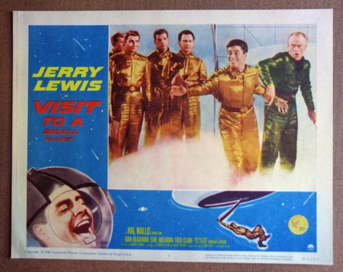 DB43 Visit To A Small Planet JERRY LEWIS '60 Lobby Card