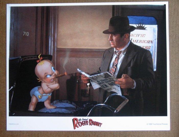 DD46 Who Framed Roger Rabbit WALT DISNEY '88 Lobby Card