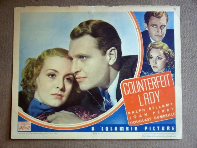 EC09 Counterfeit Lady RAY MILLAND/PERRY 1936 Lobby Card