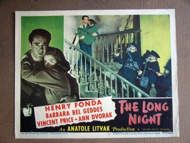 EC24 Long Night HENRY FONDA/BEL GEDDES 1947 Lobby Card