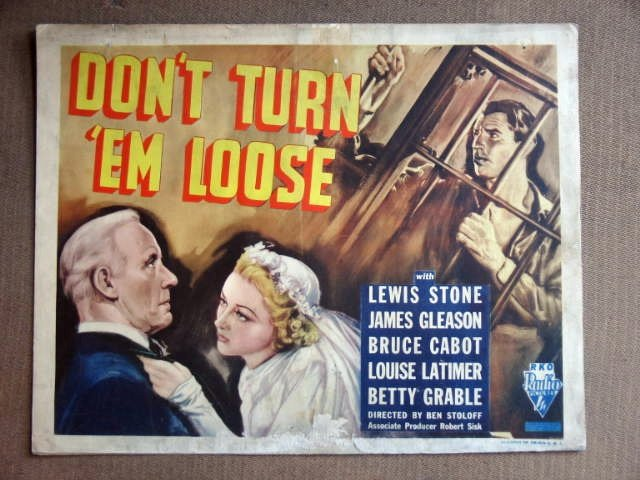 ED15 Don't Turn 'Em Loose BETTY GRABLE Title Lobby Card