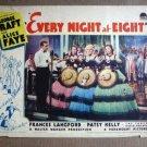 ED16 Every Night At 8 GEORGE RAFT/ALICE FAYE Lobby Card