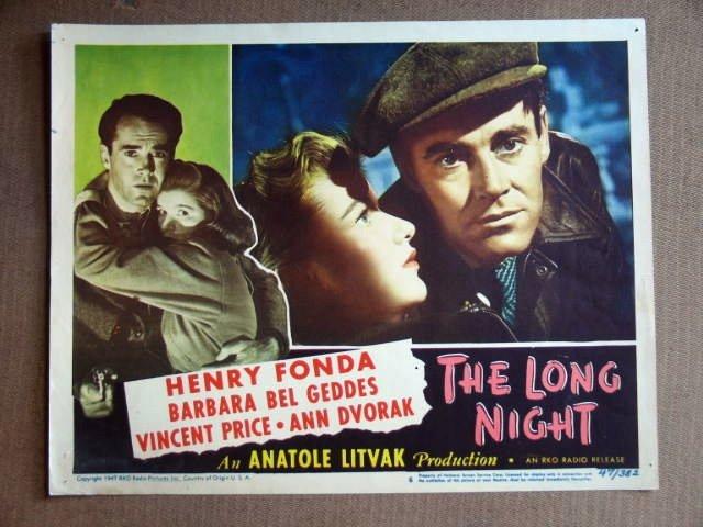 ED23 Long Night HENRY FONDA 1947 Portrait Lobby Card