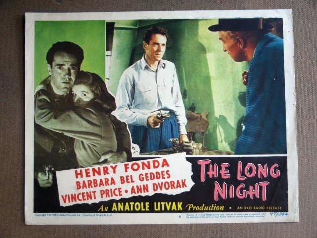 ED24 Long Night HENRY FONDA with gun in hand Lobby Card