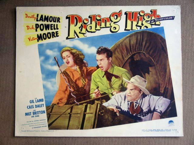 ED38 Riding High DOROTHY LAMOUR/DICK POWELL Lobby Card